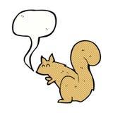 écureuil de bande dessinée avec la bulle de la parole Photos stock