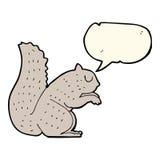écureuil de bande dessinée avec la bulle de la parole Photographie stock libre de droits