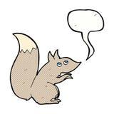 écureuil de bande dessinée avec la bulle de la parole Images stock