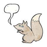 écureuil de bande dessinée avec la bulle de la parole Photos libres de droits