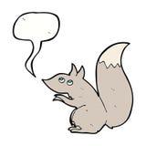 écureuil de bande dessinée avec la bulle de la parole Photo libre de droits