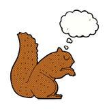 écureuil de bande dessinée avec la bulle de pensée Image stock
