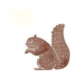 écureuil de bande dessinée avec la bulle de pensée Photo libre de droits