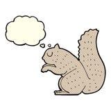 écureuil de bande dessinée avec la bulle de pensée Photographie stock libre de droits