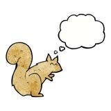 écureuil de bande dessinée avec la bulle de pensée Photos libres de droits