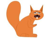 Écureuil de dessin animé Images libres de droits