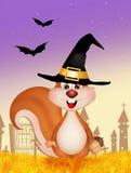 Écureuil de Halloween Image libre de droits