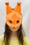Écureuil de masque d'enfant Photos stock