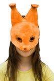 écureuil de masque d'enfant Photo libre de droits