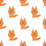 ÉCUREUIL drôle de symbole d'animaux de fond sans couture illustration libre de droits
