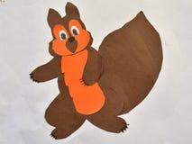 Écureuil du dessin des enfants Images stock