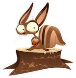 Écureuil sur le joncteur réseau illustration libre de droits