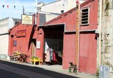 Écurie de livrée et forge, rue de port, Oamaru photographie stock