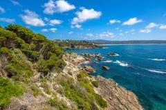 Éden : côte de saphir, Nouvelle-Galles du Sud image libre de droits