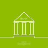 Édifice bancaire avec des colonnes illustration stock