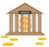 Édifice bancaire dans le style plat Illustration Libre de Droits