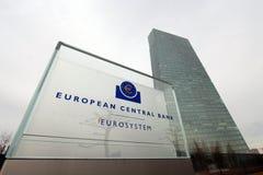 Édifice bancaire de Banque Centrale Européenne Image stock