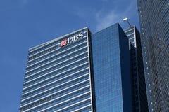 Édifice bancaire de DBS Images stock