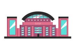 Édifice bancaire Illustration plate de vecteur Style de constructivisme illustration de vecteur