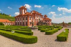 Édifice public historique de château de Troja, Prague, République Tchèque Photo stock