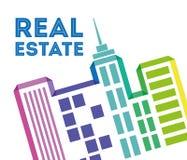 Édifices d'immobiliers et tours résidentielles illustration libre de droits
