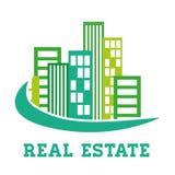 Édifices d'immobiliers et tours résidentielles illustration de vecteur