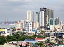 Édifices hauts à Manille, Philippines Image libre de droits
