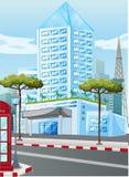 Édifices hauts dans la ville illustration libre de droits