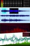 Éditeur d'onde, analyseur de spectre Image stock