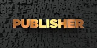 Éditeur - texte d'or sur le fond noir - photo courante gratuite de redevance rendue par 3D illustration stock