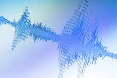 Édition audio de studio d'onde sonore photos libres de droits