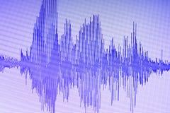 Édition audio de studio d'onde sonore photo stock