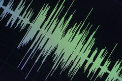 Édition audio de studio d'onde sonore photo libre de droits
