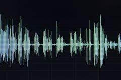 Édition audio de studio d'onde sonore photos stock