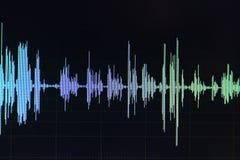 Édition audio de studio d'onde sonore images stock