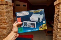 Édition de classique de Nintengo NES Photo stock