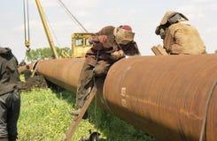 Édition de la pipe de gaz Photo libre de droits