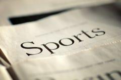 Édition de la rubrique sportive de quotidien photo libre de droits
