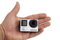 Édition de noir de Gopro Hero4 Photos libres de droits