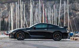 Édition noire GTR de Nissan Images stock