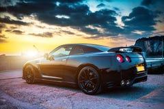 Édition noire GTR de Nissan Photo stock
