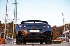 Édition noire GTR de Nissan Photos libres de droits