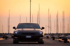 Édition noire GTR de Nissan Photographie stock