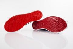 Éditorial de cuir de chaussures Photographie stock libre de droits