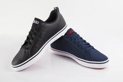 Éditorial de cuir de chaussures Images stock