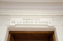 Éditorial français d'admnistration de justice Photographie stock