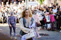 Éditorial, le 4 octobre 2015 : Barr, France : DES Vendanges de fête Image stock