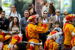 Éditorial, le 4 octobre 2015 : Barr, France : DES Vendanges de fête Photographie stock