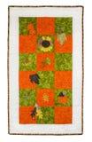 Édredon automnal de thème de feuilles de fleurs Image stock