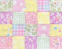 Édredon de patchwork, place de base de modèle Photographie stock libre de droits